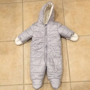 Quilted Water-Resistant snowsuit for baby